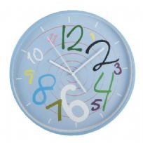 Blue Funky Dial Wall Clock